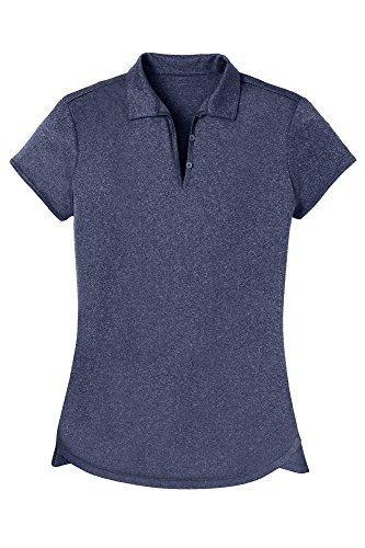 Opna Women's Ladies Moisture Wicking Athletic Golf Polo Shirts Tops & Tees Navy
