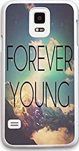 Galaxy S5 Case, Samsung Galaxy S5 Hard Case NEW High Quality Unique shape Design Christian is Quotes forever young common completely