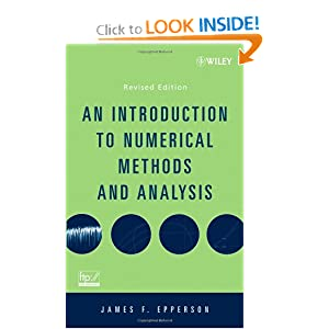 An Introduction to Numerical Methods and Analysis James F. Epperson