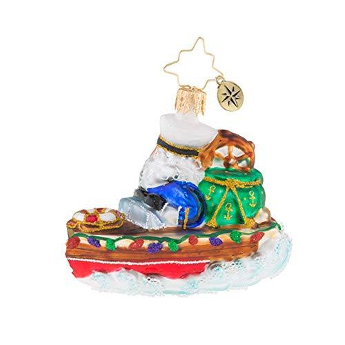 Christopher Radko Nautical Nick Little Gem Christmas Ornament