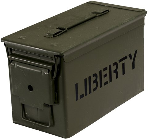 Liberty Safe Ammo Cannister Storage Box (.50 Caliber) Water and Air Tight 6'' x 11.5'' x 7 by Liberty Safe