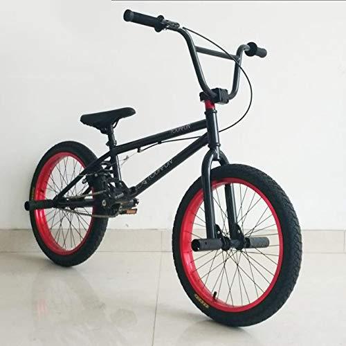 TX Pruebas De Bicicleta De Montaña Deporte Extremo Frenos De Disco 20 Pulgadas Deporte Al Aire Libre Monturas Marco Negro Llantas Rojas por TX