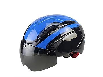 YHJNBGH Acogedor Cascos de Ciclismo para Adultos con Casco Desmontable con Casco de Bicicleta Ajustable (