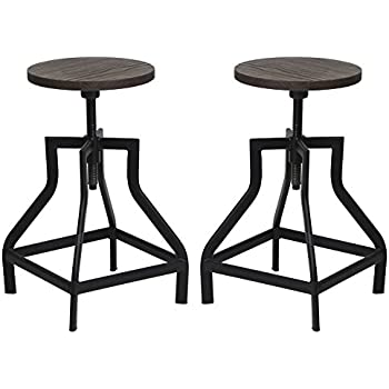 Amazon Com Industrial Swivel Metal Frame Barstool With