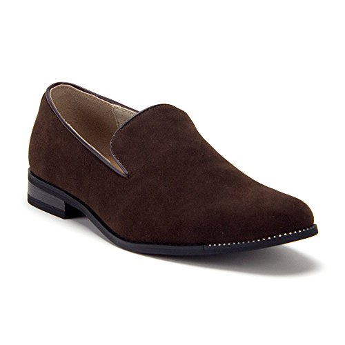 86212 On Designer Loafers Slippers Dress Slip Mens Shoes Brown Smoking qdUEa
