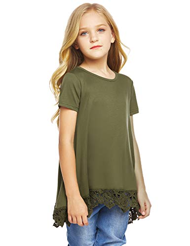 Arshiner Girls Casual Tunic Tops Long Sleeve Loose Soft Blouse T-Shirt for 4-13 Years 3