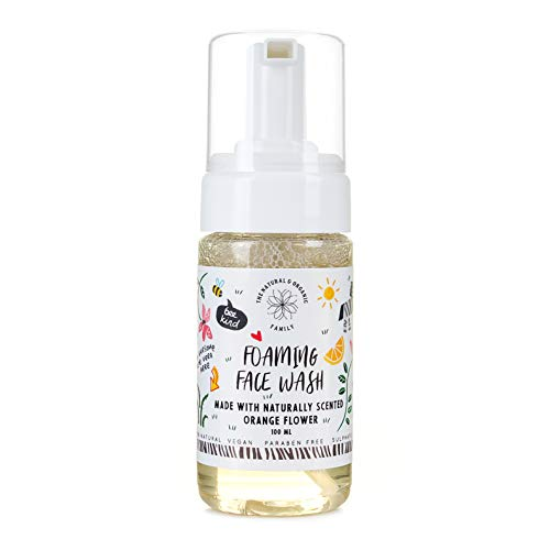 Gentle Foaming Face Wash Organic - Natural - Vegan - Toxin-Free - Sulphate Free - Paraben Free - For Kids Preteens and Adults