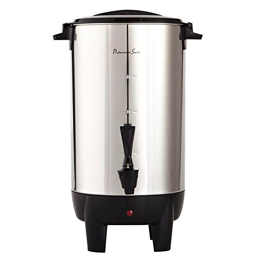 Continental Electric 30-Cup Coffee Urn, Stainless Steel Single Wall, PS77931 ()