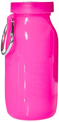 Bubi Bottle (14oz, Pink Silicone Multi-Use Bottle) -