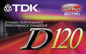 TDK D120 Audiocassette - Normal Bias