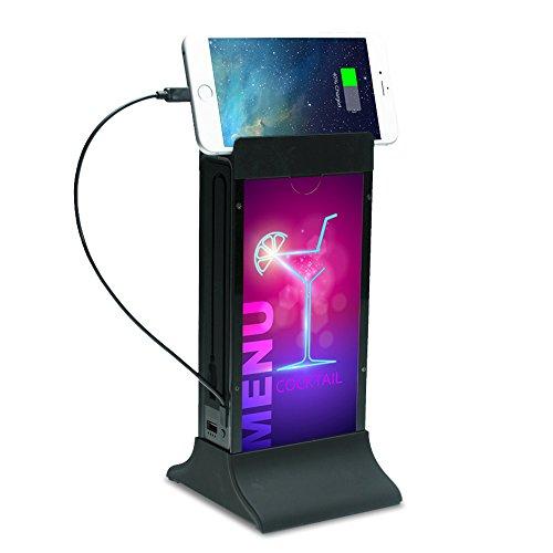 CTA Digital Table Tent Power Station 20,800 mAh for Bars/Restaurants