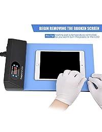 Almohadilla de calefacción compatible con iPad iPhone, pantalla LCD, separador de pantalla, herramienta de reparación, placa de calefacción.