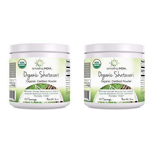 Amazing India Organic Shatavari Powder – 16 oz – Raw, Vegan- Gluten-Free – Ayurvedic Herb to Support Women Health (Pack…