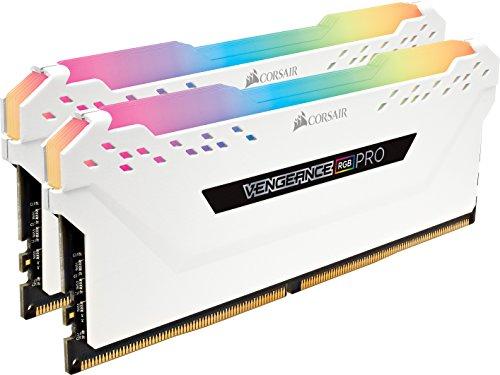 Corsair Vengeance RGB PRO 16GB (2x8GB) DDR4 3600 PC4-28800 - White (CMW16GX4M2C3600C18W)