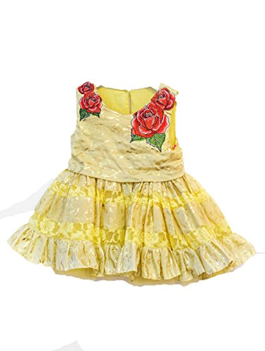 Disney Collection by Tutu Couture Beauty & The Beast Rose Poplin Petti Dress (8, Yellow) (Kids Disney Couture)