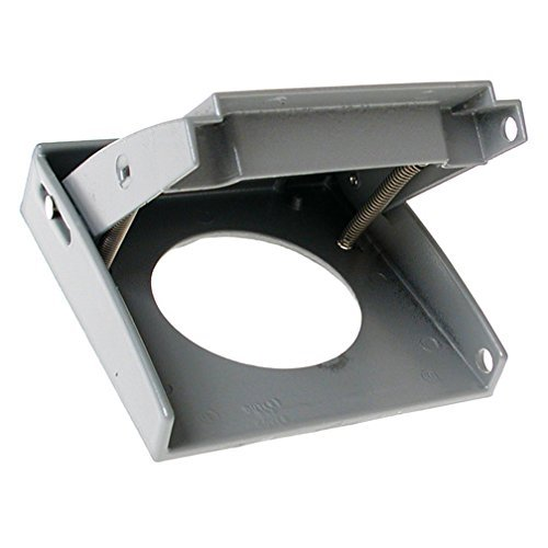 Hubbell-Bell 5034-0 2-Gang Weatherproof Vertical 30-50-Amp Receptacle Device Cover, Gray