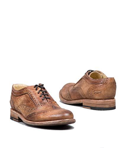 Bed Stu Women's Lita Oxford Tan Driftwood Shoe - 6 B(M) US