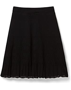 Theory Black Miniray Skirt In Slinky