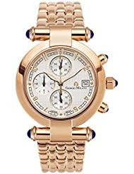 Giorgio Milano 931RG02 Lucia Womens IP Rose Gold Chronograph with Blue Stones Slim Watch