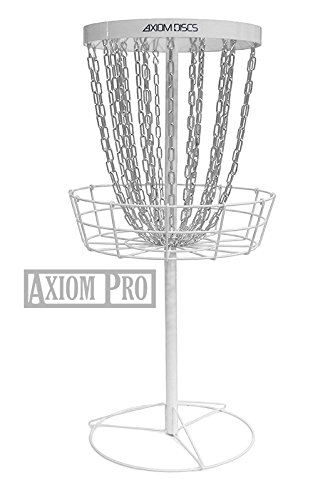 Axiom Discs Pro 24-Chain Disc Golf Basket - White by Axiom Discs