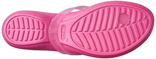 CROCS - ISABELLA Embellished Flip - candy pink Rosa