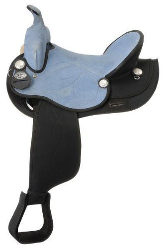 bluee 16.5 Inch SeatManaal Enterprises Synthetic Suede Australian Stock Saddle with Horn Size 15  to 18  inch Seat Available
