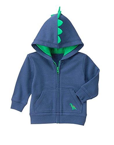 Gymboree Girls' Toddler Boys' Navy Dino Hoodie, Multi, 18-24 Months