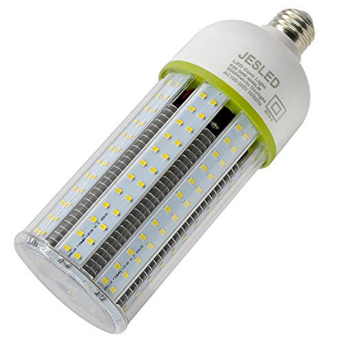 JESLED 30W LED Corn Light Bulb, E26 Standard Base, Metal Halide Replacement LED Bulb, 4050LM 5000K Daylight White, Large Area Light Bulb for Home Street Lamp Garage Factory Warehouse Backyard Garden