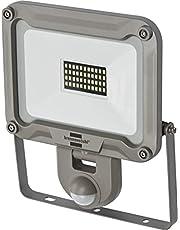 Brennenstuhl LED-spot JARO 1050 P/LED-lamp voor buiten met bewegingsmelder (LED-buitenspot voor wandmontage, LED-schijnwerper 10W van aluminium, IP54)