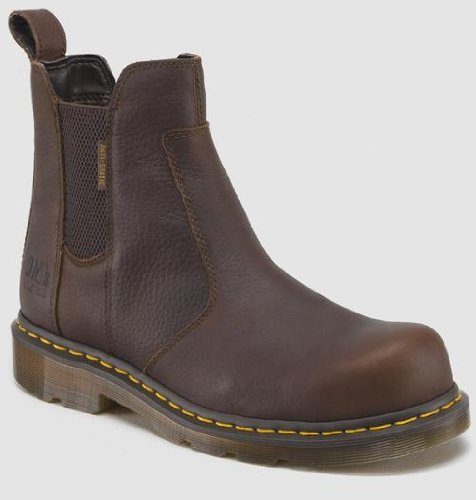 [Dr. Martens Men's Fusion Safety Toe Chelsea Boot,Bark,9 UK/10 M US] (Dr Martens Work Shoes)