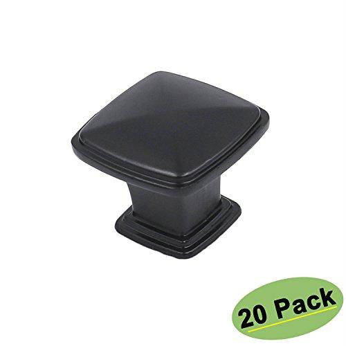 Black Cabinet Knobs for Dresser Draawer 20 Pack – homdiy HD8791BK Kitchen Cabinet Hardware Black Drawer Pulls and Knobs