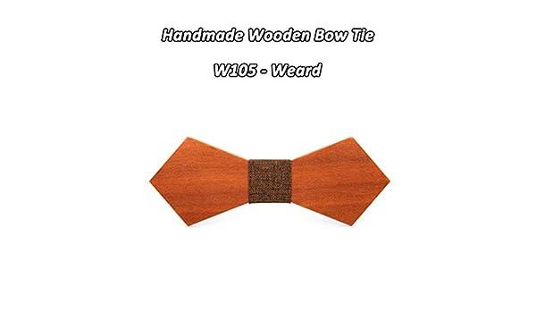 Maybesky-Tie Corbata de Lazo de Madera de Madera roja Corbata de ...