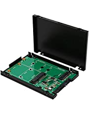 Syba SY-ADA40093 M.2 and MSATA SSD Dual Connector to SATA III 2.5-Inch Enclosure Components