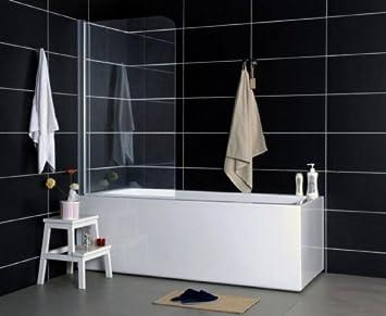 Vasca Da Bagno Trasparente : Inserto per vasca da bagno separatore doccia con vetro trasparente