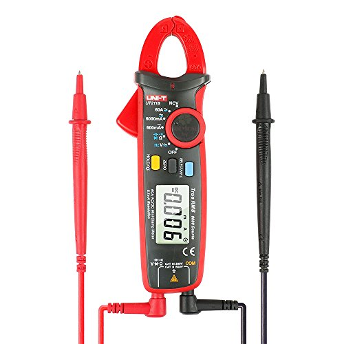 Dc Digital Clamp - UNI-T UT211B 6000 Count True RMS 60A AC/DC 0.1mA Resolution Digital Clamp Meter Amperemeter with Resistance, Capacitance, Frequency Measurement and NCV Test