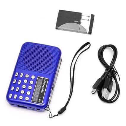 Mini Lcd Digital Audio Fm Radio Usb Micro Sd Tf Karte Lautsprecher Mp3 Musik Player Radio