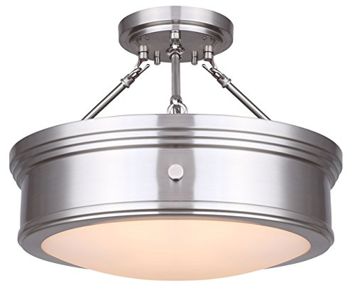 Canarm LTD ISF624A03ORB Boku ORB 3 Bulb Semi-Flush Mount Oil Rubbed Bronze with Flat Opal Glass by Canarm (Image #5)
