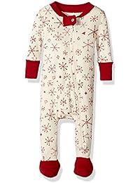 Unisex Baby Organic Front Zip Sleeper, Falling Snowflakes, 0-3 Months