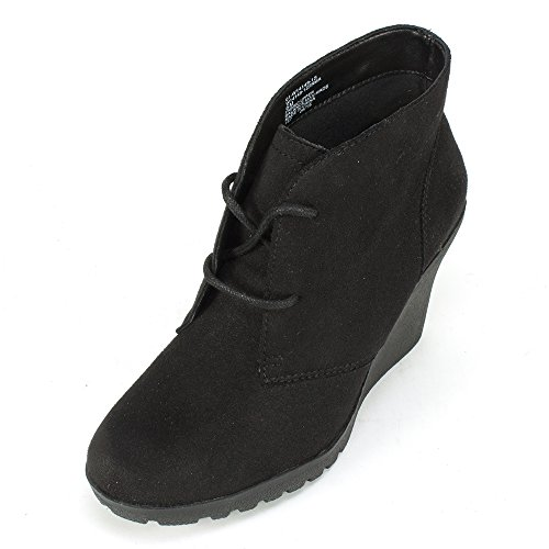 White Mountain 'IRMA' Women's Leather Bootie, Black - 8.5 M (Black And White Booties)