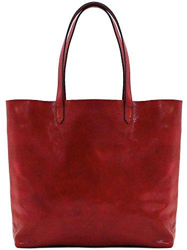 - Floto Piazza Leather Tote Bag in Full Grain Calfskin
