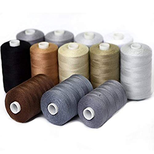 - Sewing Thread kit Spools Finest Quality Sewing All Purpose 100% Pure Cotton Thread - 1000 Yard Spools (Suit 10)