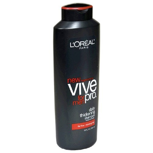L'Oreal Paris Vive Pro for Men 2-in-1 Daily Thickening Shampoo and Conditioner, Fine/Thinning Hair, 13-Fluid Ounce (6 Bottles) by L'Oreal Paris
