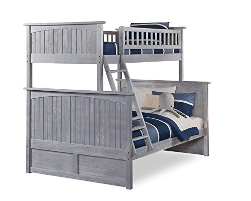 Atlantic Furniture AB59208 Nantucket Bunk Bed, Twin/Full, Driftwood ()