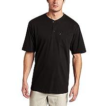 Key Apparel Men's Short Sleeve Heavyweight 3-Button Pocket Henley