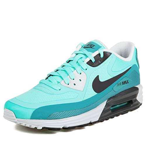 Nike Men's Air Max Lunar90 Wr Bleached Turq/Anthracite/Ctln Running Shoe 8 Men US (Nike Air Max 90 Hyperfuse compare prices)