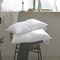 Coozii Goose Down Queen Soft Bed Pillow for Sleeping