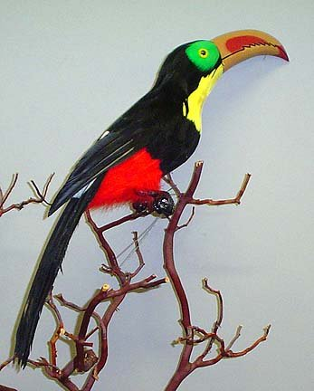 22 Large Artificial Feathered Tropical Toucan Bird by Unknown