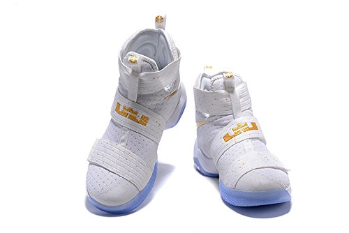 Joss Men's Outdoor Athletic Shoes Soldier 10 SFG EP Basketball Shoe White Gold US11