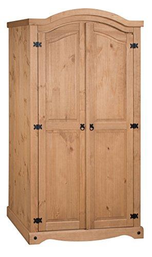 Corona Two Door Curved Top Wardrobe in Antique Pine