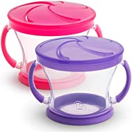 Munchkin Snack Catcher, 2 Pack, Pink/Purple